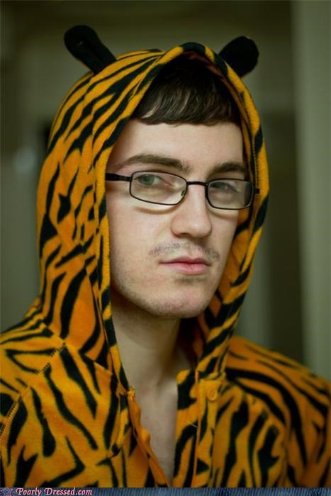 glasses hipster mustache tiger