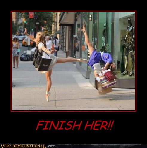 finish her,IRL,lol,martial arts,Mortal Kombat,shopping,video games,who is finishing who,women be shopping