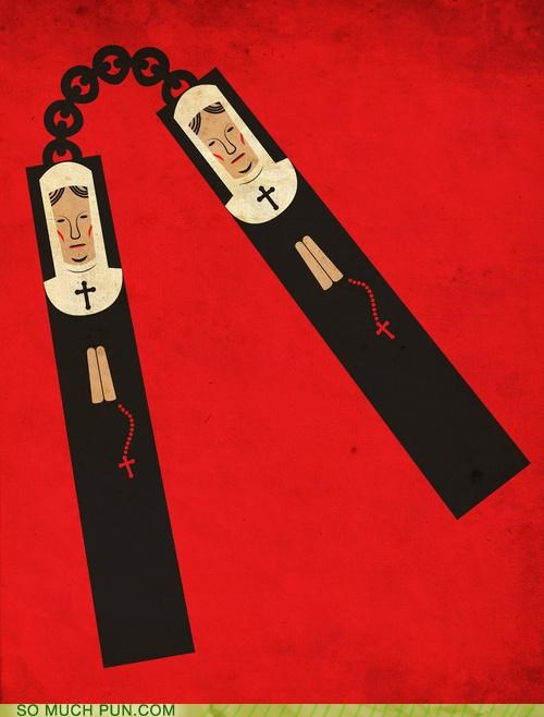 catholicism catholics contraception nun nunchucks nuns protection zing - 4220351488