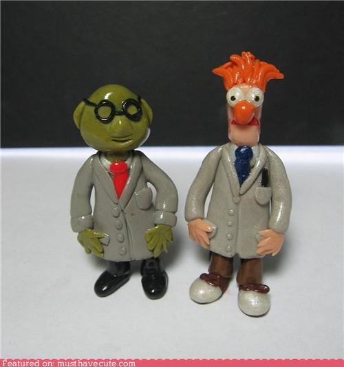 art,beeker,dr-bunsen,muppets,scientists,sculpture,Teeny