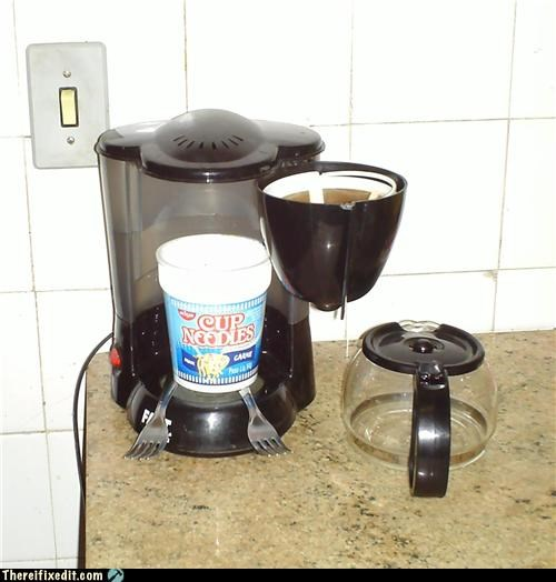 coffee college noodles water heater