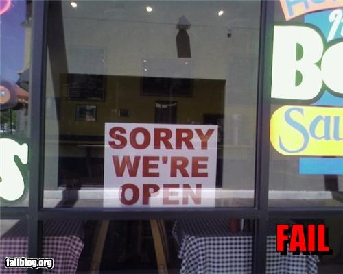 apology,classic,closed,failboat,g rated,open,sign