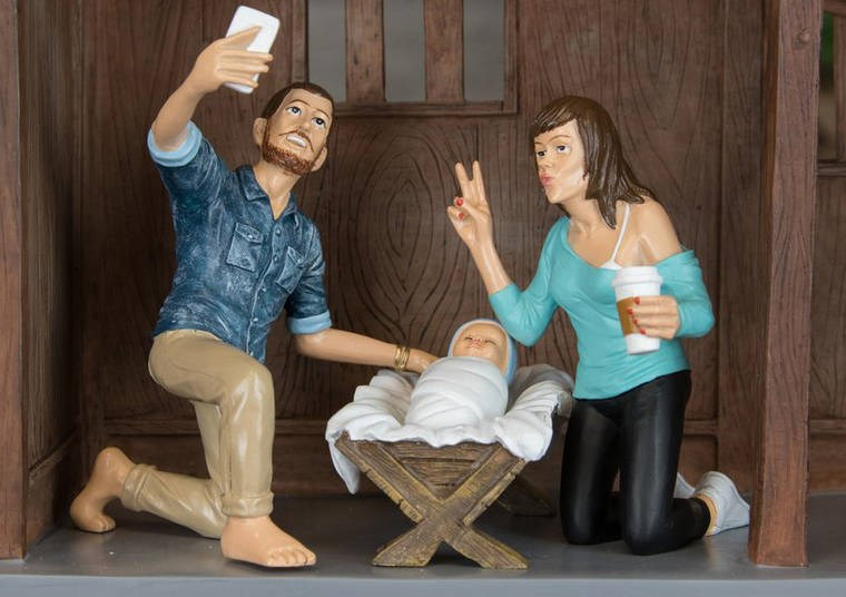 christmas Nativity scene hipster cheezcake - 4220677