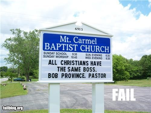 church,ego,failboat,g rated,pastors,signs,the Boss