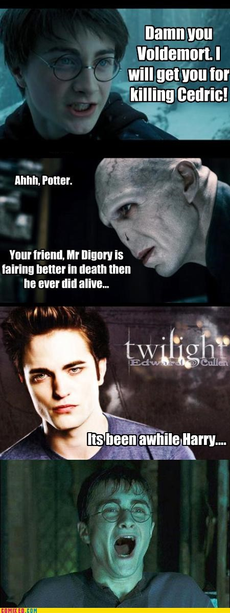 Cedric,edward cullen,Harry Potter,twilight,voldemort