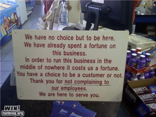 awesome at work customer service signs - 4221847040