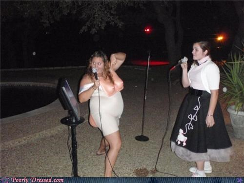 boobs,costume,karaoke,poodle skirt