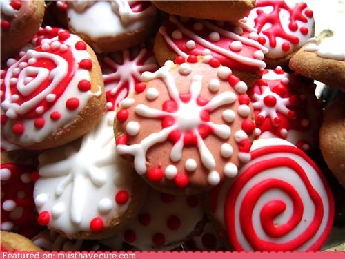 christmas cookies epicute icing snowflakes swirls - 4222633984