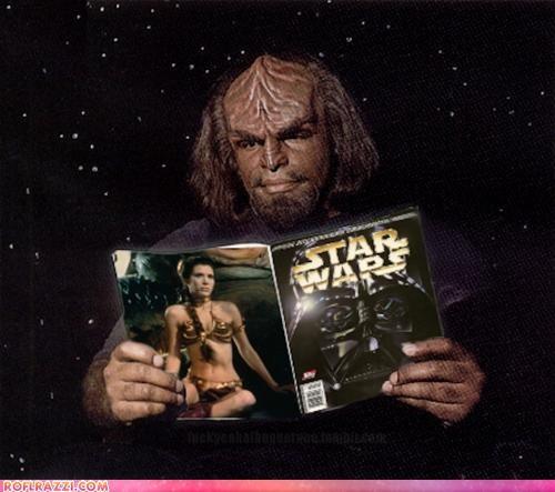 funny sci fi Star Trek star wars Worf - 4223581952