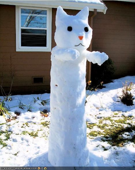 awesome,cold,holidays,ice,longcat,package post,simons-cat,snow,snowcat,snowman,winter