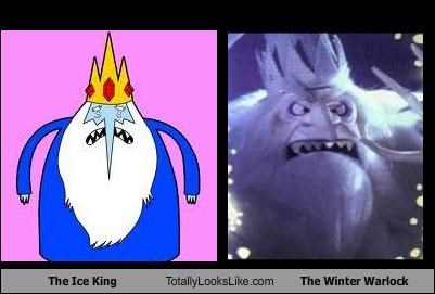 adventure time,cartoons,christmas,claymation,santa claus is coming to town,the ice king,the winter warlock