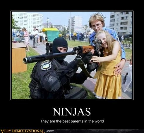 awesome,guns,kids,ninjas,parents,police