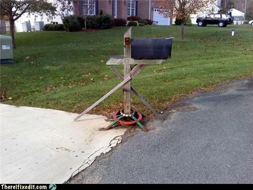 christmas tree good idea mailbox stand