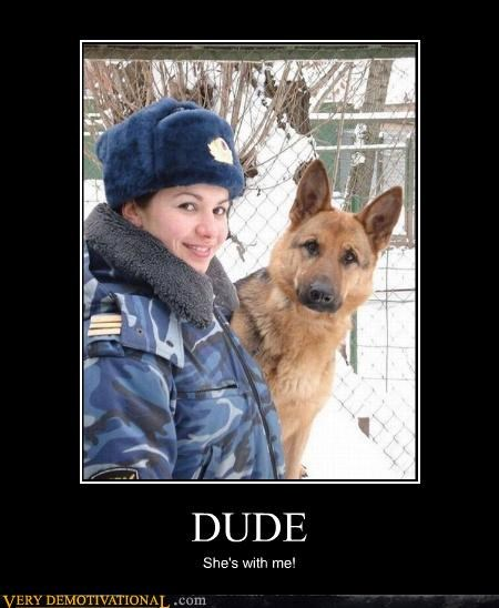 anthropomorphizing dogs jealousy love military police wtf