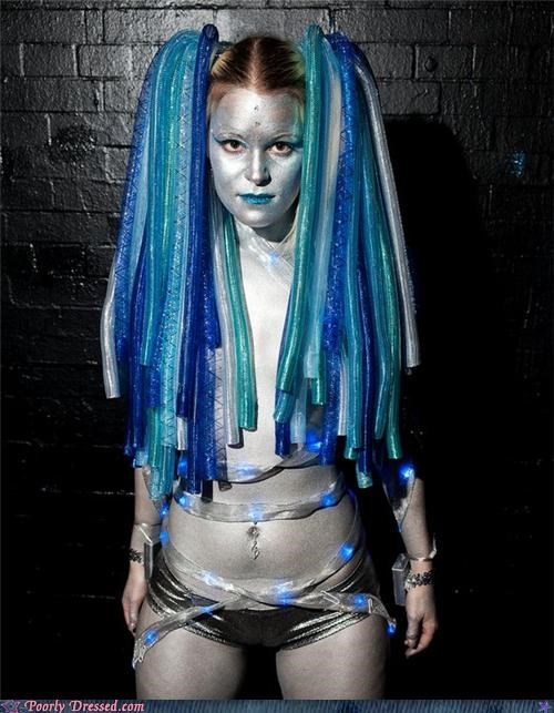 android bodypaint coils hair wtf