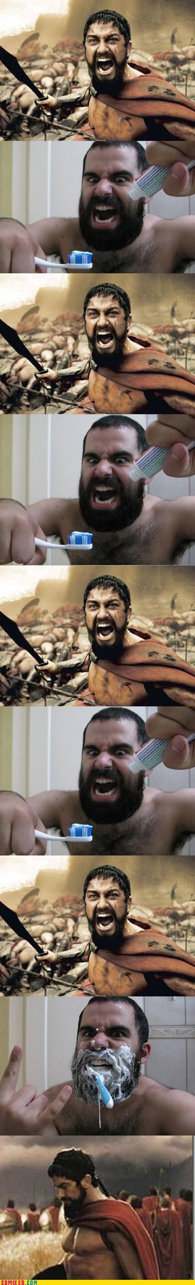 300,beards,epic,sparta,Tenso,toothpaste,wtf