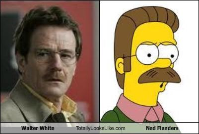 breaking bad bryan cranston mustache ned flanders the simpsons