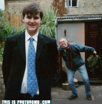 crazy,dads,formal,photobomb,tongue