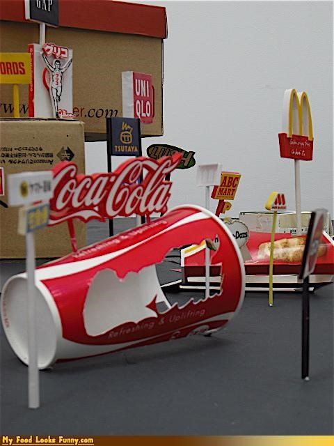 coca cola coke cup disposable city meals packaging trash - 4227009536