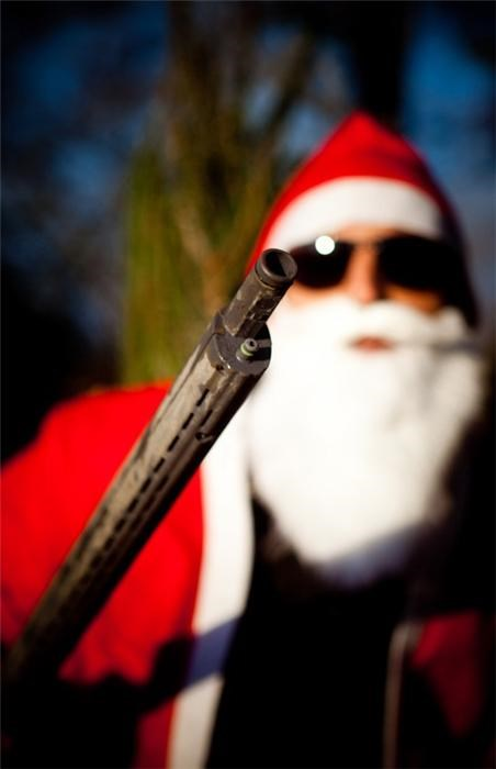 awesome,glasses,gun,santa