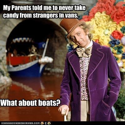 My Parents told me to never take candy from strangers in vans. What about boats?