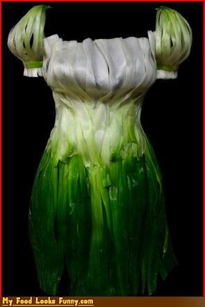 art dress fruits-veggies green onions scallions spring onions - 4228799232