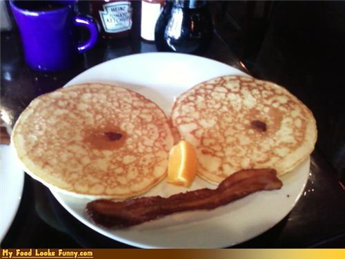 bacon breakfast face fruits-veggies meals mistrusting pancakes - 4229737472