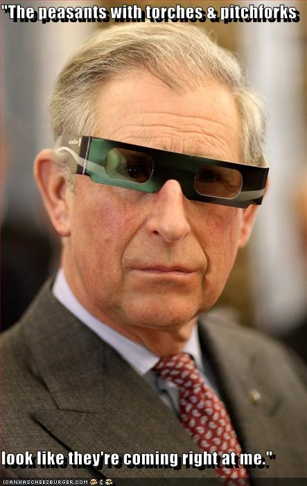 3-D 3-d glasses British peasants prince charles revolt royalty - 4229980928