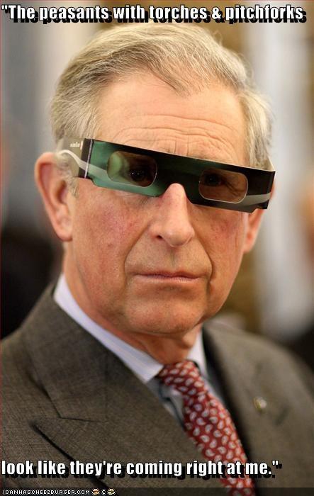 3-d glasses British prince charles royalty - 4229980928