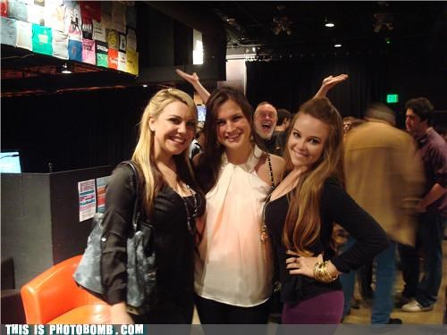 awesome framing girls old guy Party photobomb
