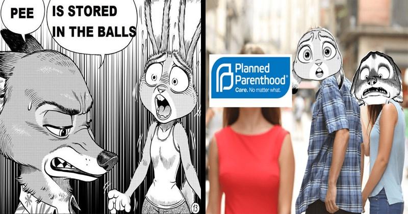 Memes inspired by Zootopia pro-life fan comic, funny dank memes.
