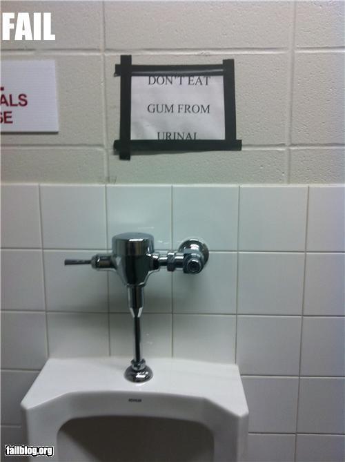 bathroom failboat g rated gross gum signs urinals - 4233487104