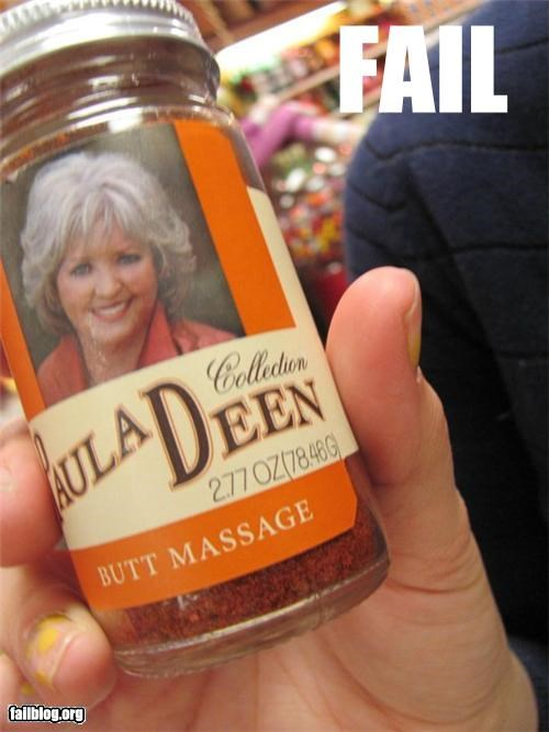 butt,classic,failboat,food,g rated,name,paula deen,spices