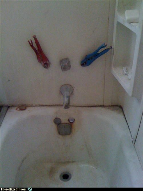 bathtub,clamps,dual use,vice grips