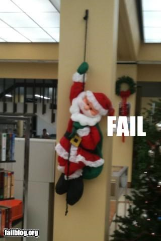 Santa fail. Bad news for everyone excited for Christmas this year. Santa Claus apparently hung himself in the Sam Houston library this past weekend. He shall be missed.