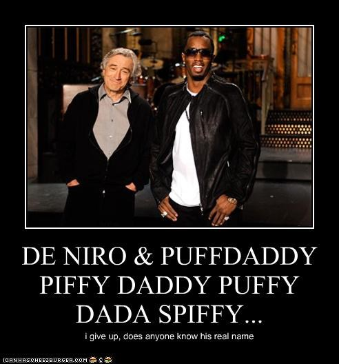 actor celeb demotivational funny lolz Puff Daddy robert de niro - 4234907392