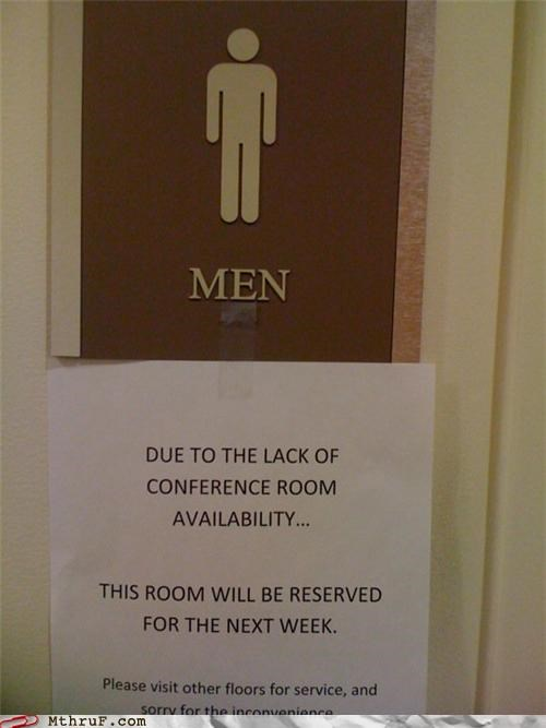 bathroom conference room men note