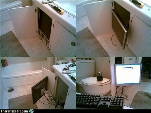 bathroom,bathtub,computer,hidden