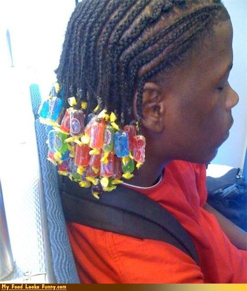 candy,cornrows,hair,jolly ranchers,style,Sweet Treats