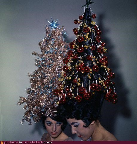 christmas fashion hair hygiene vintage wtf