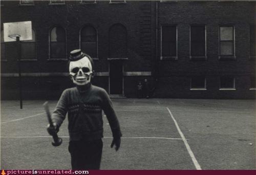 creepy kids skulls terror vintage wtf - 4237501184
