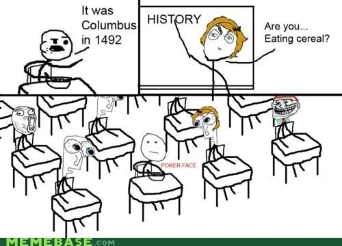 cereal guy history Memes poker face - 4237570048