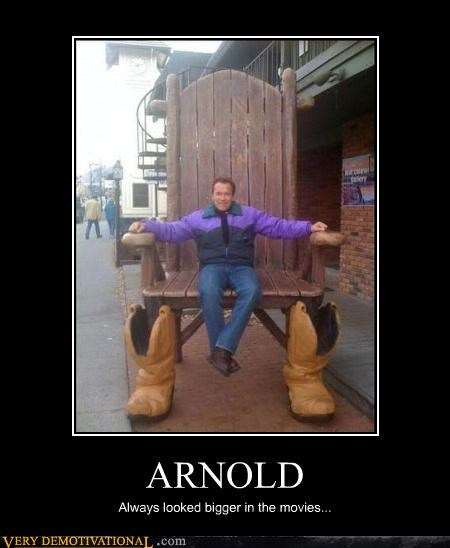 Arnold Scwharzenegger,big chair,california,celebutards,epic boots,lol,shrinking,wtf