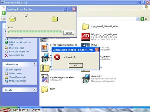 error FAIL i quit windows xp
