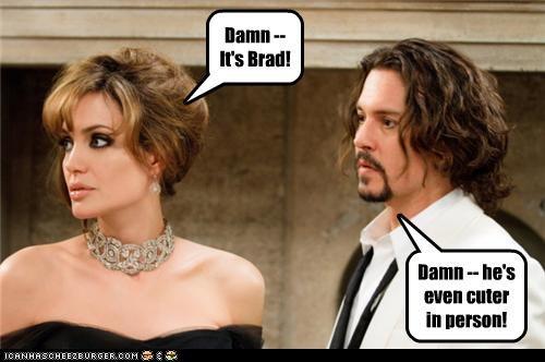 actor Angelina Jolie celeb funny Johnny Depp lolz - 4238813440