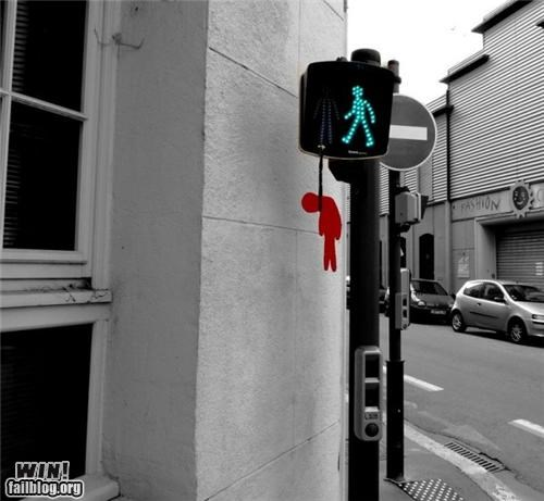 crosswalk,hacked,morbid,traffic sign