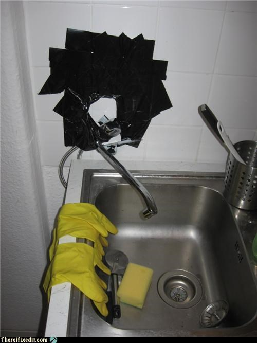 kitchen sink,Professional At Work,tape