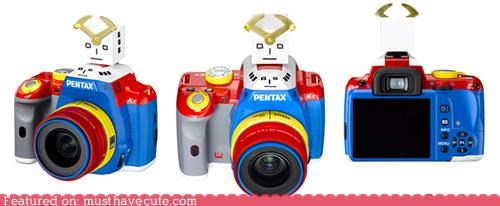 camera colorful crazy head pentax robot - 4239428096