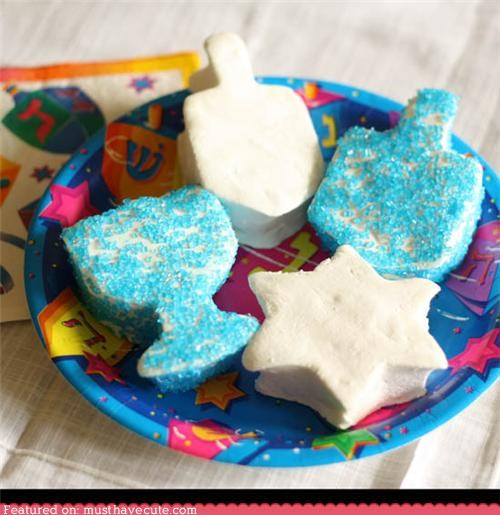 blue dessert epicute hanukkah marshmallows sugar sweets - 4239434752