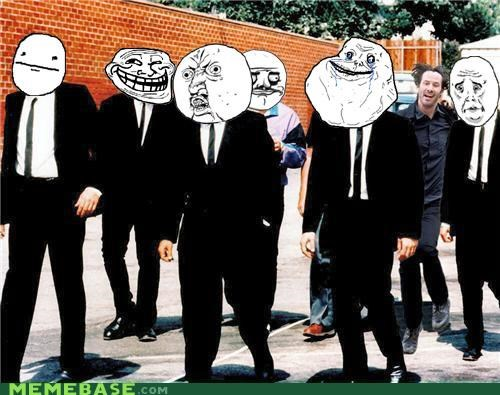 cool face,Happy Keanu,me gusta,Okay,poker face,Rage Comics,resevoir dogs